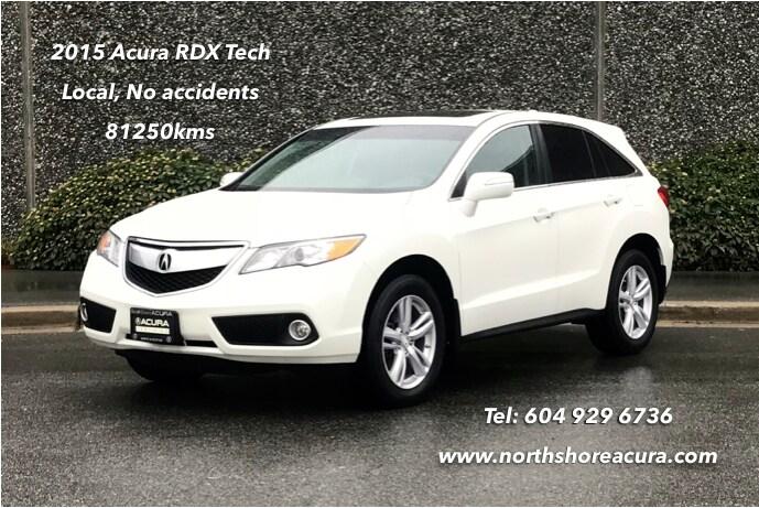 2015 Acura RDX Tech at No Accidents, Warranty Till 2021 SUV