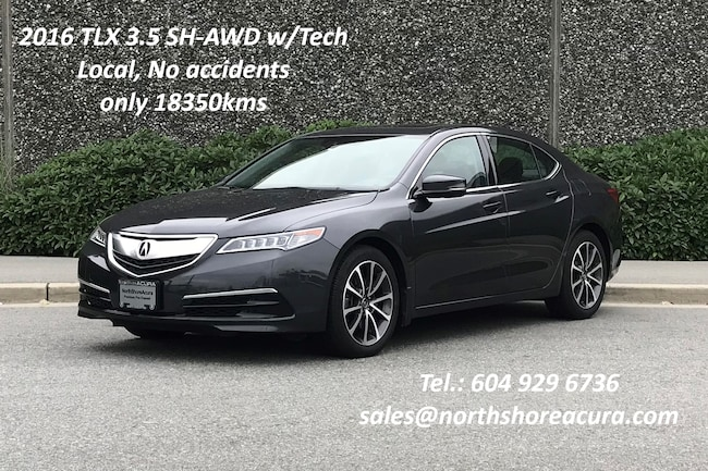 2016 Acura TLX 3.5L SH-AWD w/Tech Pkg No Accidents, Ultra Low Kms Sedan