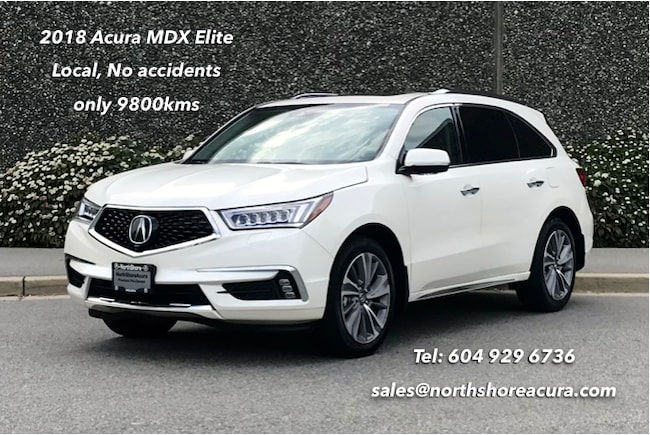 2018 Acura MDX Elite Low Kms, Like New, All Options, 5000 lbs Hit SUV