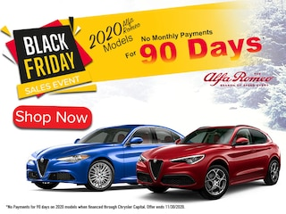 Alfa Romeo 2020 Models No Monthly Payments for 90 Days*