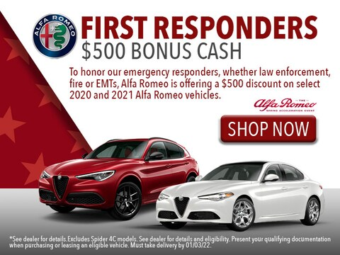 $500 First Responder Bonus Cash*