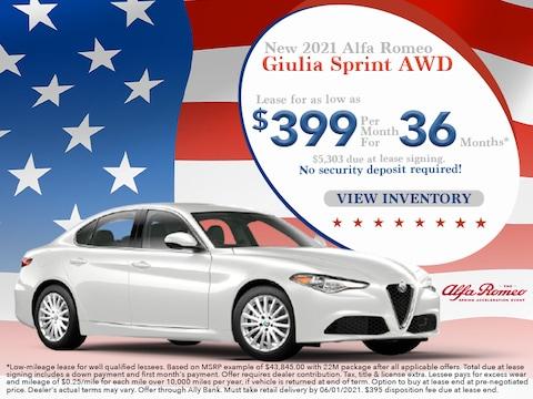 2021 Alfa Romeo Giulia Sprint AWD