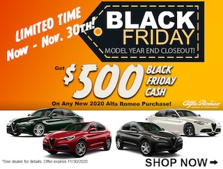 Get $500 Black Friday Cash on any new Alfa Romeo Purchase!*