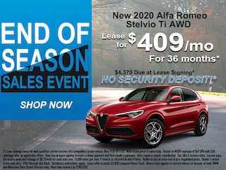 2020 Alfa Romeo Stelvio: Lease for $409/mo for 36mths!