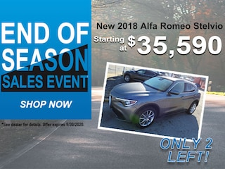 Remaining 2018 Alfa Romeo Stelvio: Starting at $34,950!