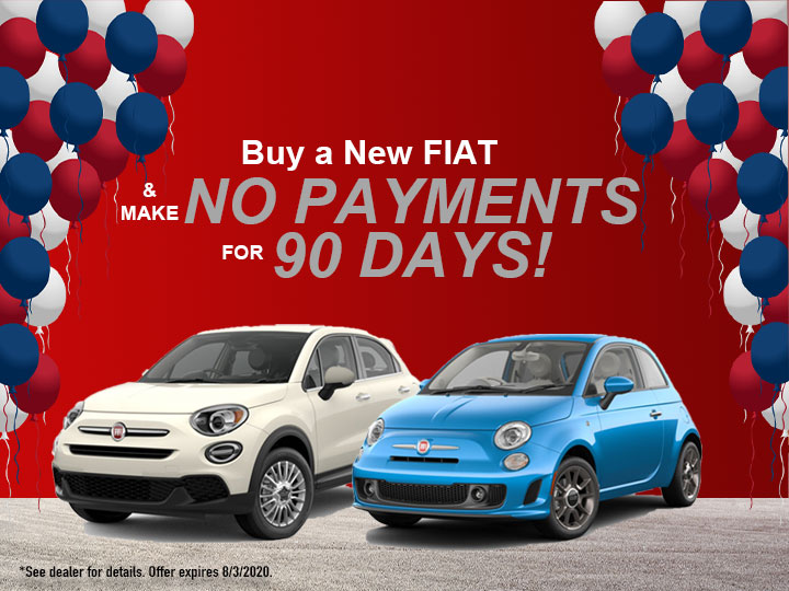 Buy a New FIAT - Make No Payments for 90 Days!