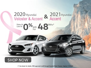 2020 Hyundai Veloster and '20 '21 Accent: 0% APR for 48Months!
