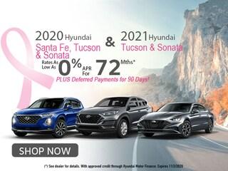 Hyundai Santa Fe, Tucson & Sonata: 0% APR for 72 Months!