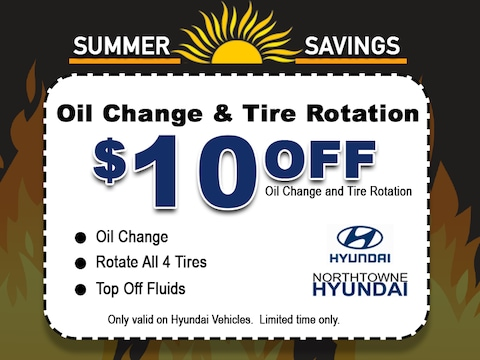 $10 off Oil Change & Tire Rotation