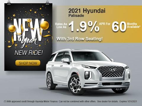 2021 Hyundai Palisade with 3rd Row Seating!