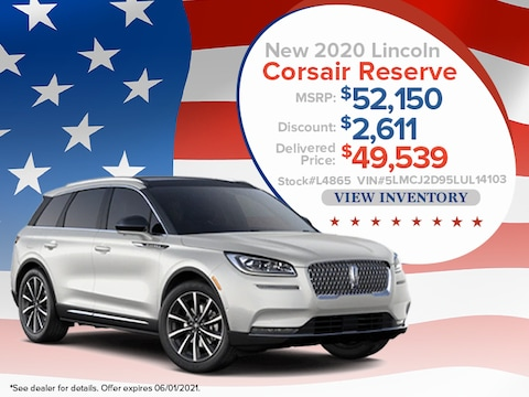 2020 Lincoln Corsair Reserve - Up To $2,611 Off MSRP*
