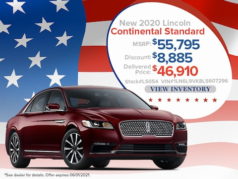 2020 Lincoln Continental Standard - Up To $8,885 Off MSRP*
