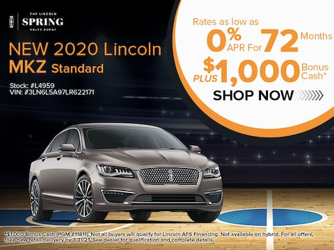 NEW 2020 LINCOLN MKZ STANDARD 0% APR FOR 72 MONTHS*