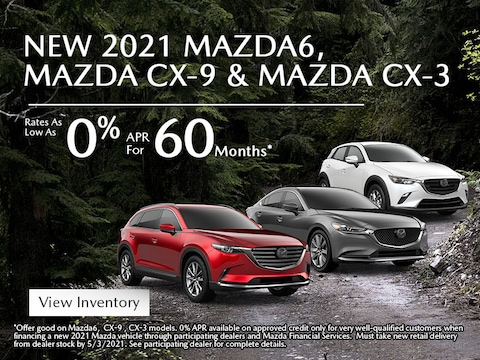 2021 MAZDA CX-3, CX-9 & MAZDA6 Rates As Low As 0.9% APR for 60 Mos*