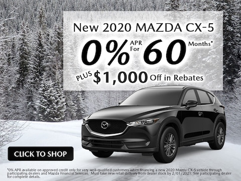 New 2020 MAZDA CX-5 Rates As Low As 0% APR For 60 Months*