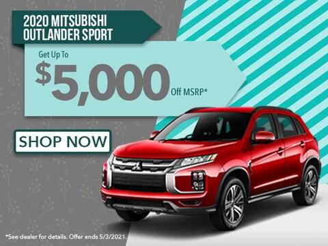 2020 MITSUBISHI OUTLANDER SPORT UP TO $5,000 OFF MSRP*