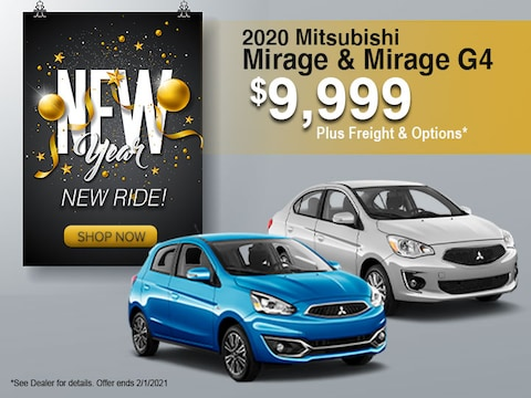 2020 Mitsubishi Mirage & Mirage G4 $9,999 Plus Freight & Options*