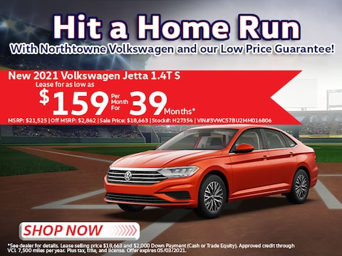 2021 Volkswagen Jetta 1.4T S Lease for $159/Mo for 39 Mos*