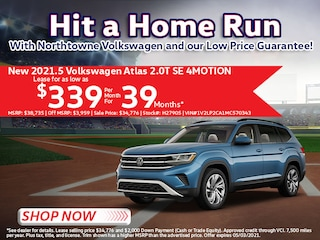 2021.5 Volkswagen Atlas 2.0T SE 4MOTION Lease for $339/Month for 39 Mos*