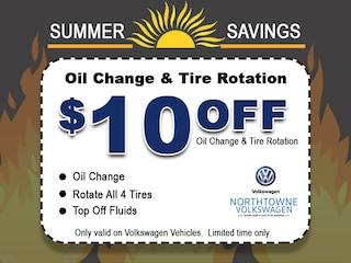 $10 Off Oil Change & Tire Rotation!
