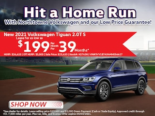 2021 Volkswagen Tiguan 2.0T S Lease for $199/Mo for 39 Mos*