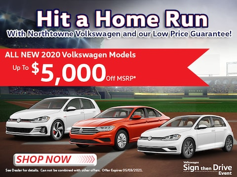 All New 2020 Volkswagen Models - Up To $5,000 Off MSRP*