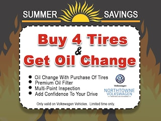 Buy 4 Tires, Receive a FREE Oil Change