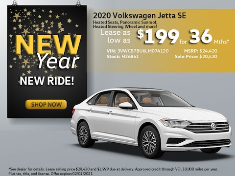 2020 VW Jetta SE: Lease as low as $199/mth for 36 Mths!