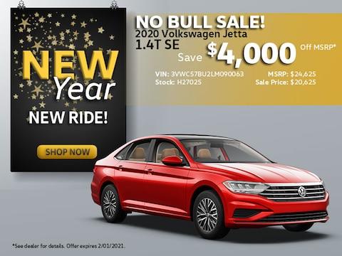 2020 VW Jetta SE: Save $4,000 Off MSRP!