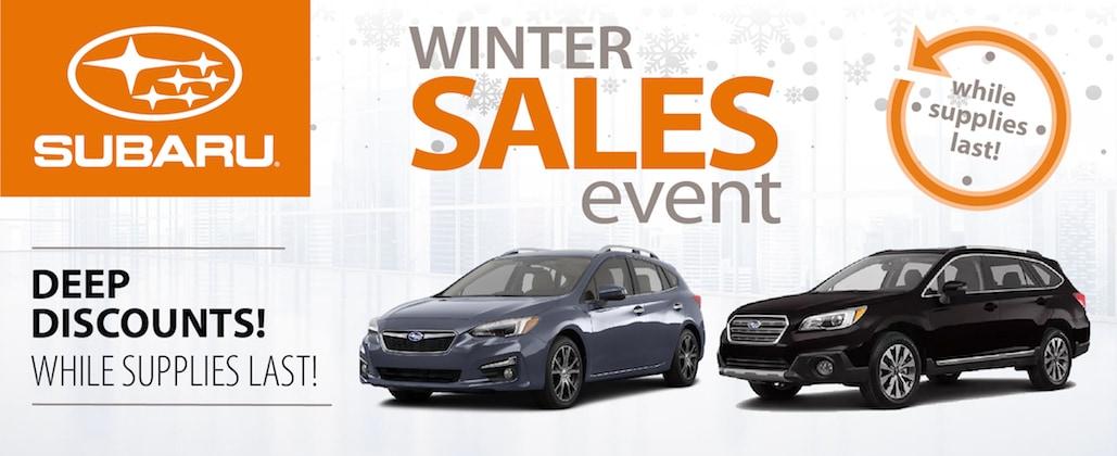Northtown Subaru Winter Event Select Subaru Specials Northtown