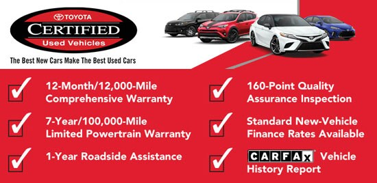 Certified Used Cars >> Buffalo Toyota Certified Preowned Used Cars Amherst New