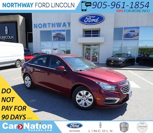 2015 Chevrolet Cruze LT 1LT | BACKUP CAM | SUNROOF | TURBO |