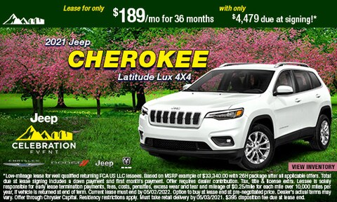 April- 2021 Jeep Cherokee Latitude Lux  4X4