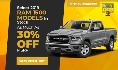 Select 2019 RAM 1500 Models In Stock