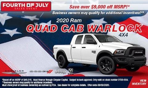 July 4th- 2020 Ram 1500 Quad Cab Warlock 4X4