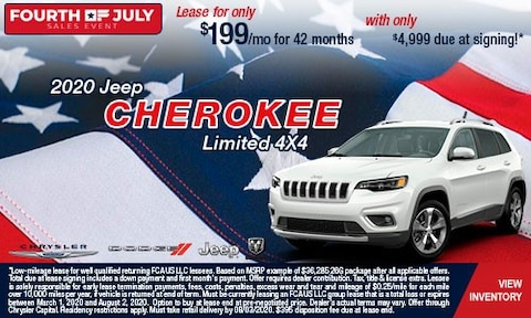 July 4th-2020 Jeep Cherokee Limited 4X4