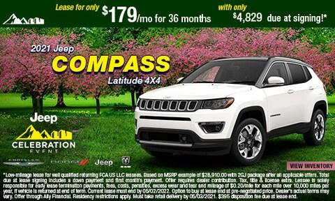 April- 2021 Jeep Compass Latitude 4X4