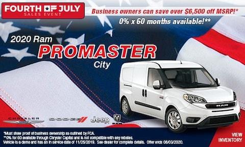 July 4th- 2020 Ram Promaster City