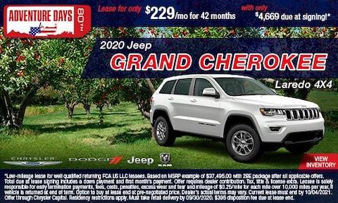September- 2020 Jeep Grand Cherokee Laredo