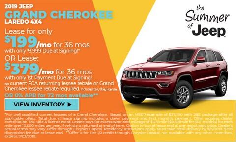 Aug - 2019 Jeep Grand Cherokee