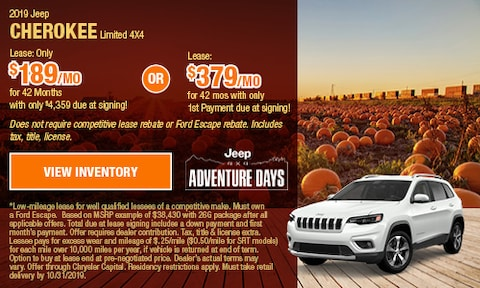 OCT - 2019 Jeep Cherokee Limited 4X4