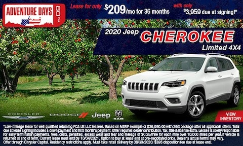 September- 2020 Jeep Cherokee Limited
