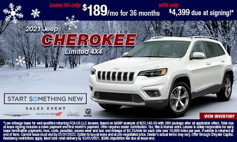 Jan - 2021 Jeep Cherokee Limited 4X4