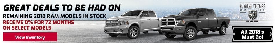 Great Deals on Remaining 2018 RAM Models In-Stock