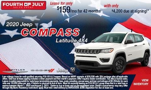 July 4th- 2020 Jeep Compass Latitude 4X4