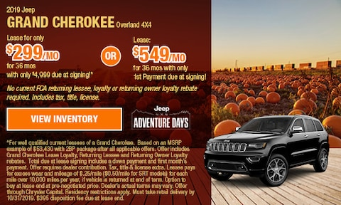OCT - 2019 Jeep Grand Cherokee Overland 4X4