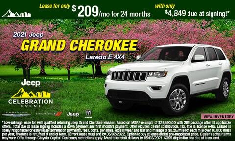 April - 2021 Jeep Grand Cherokee Laredo E 4X4