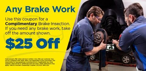 Any Brake Work