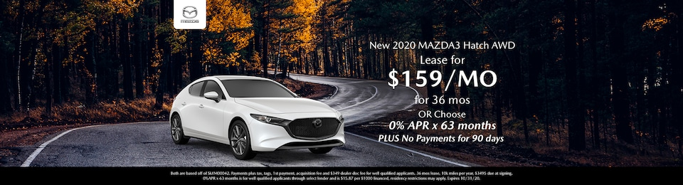 New 2020 Mazda3 Hatch Special