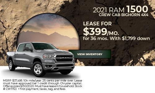 2021 RAM 1500 Crew Cab Bighorn 4x4